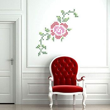 cross stitches wall stickers by lauren moriarty & co | notonthehighstreet.com
