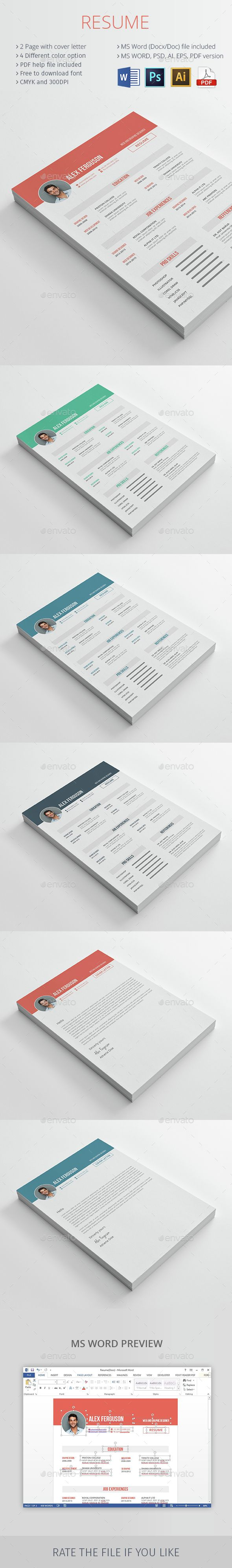Resume CV — Photoshop PSD #professional resume #rongmistiry • Available here → https://graphicriver.net/item/resume-cv/15325144?ref=pxcr