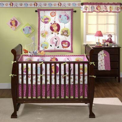 NEW Bedtime Originals Tutti Frutti 3 Piece Crib Bedding Set By Lambs Ivy