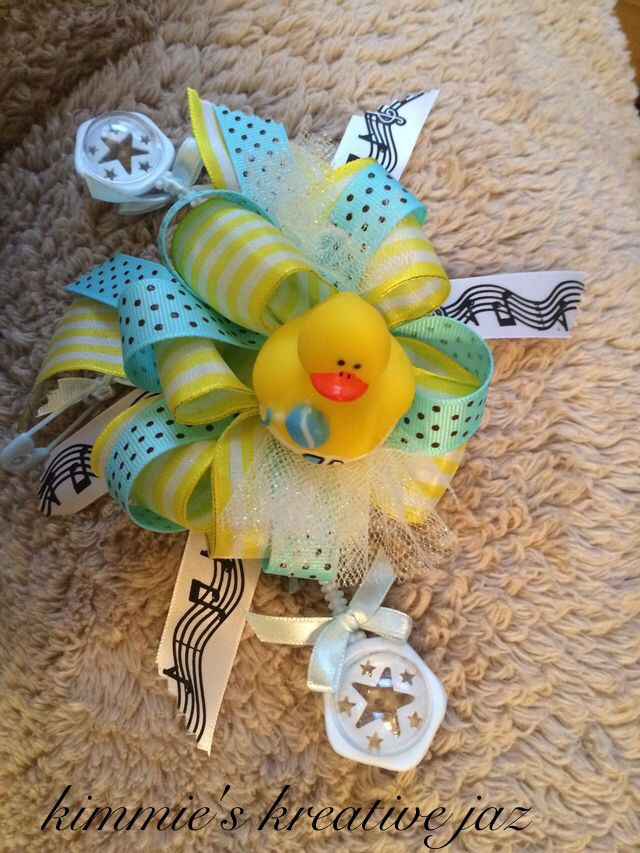 Rubber Duck Baby Shower Corsage For Mom To Be Baby Shower