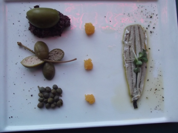 Course #1 to white wine dinner. Paired with Segura Viudas Cava Reserva. Stunning presentation and flavors.