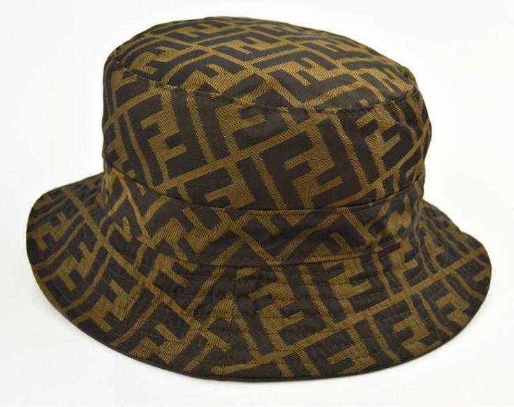 Fendi Dark Chocolate Brown Leather Zucca Logo Reversible ...