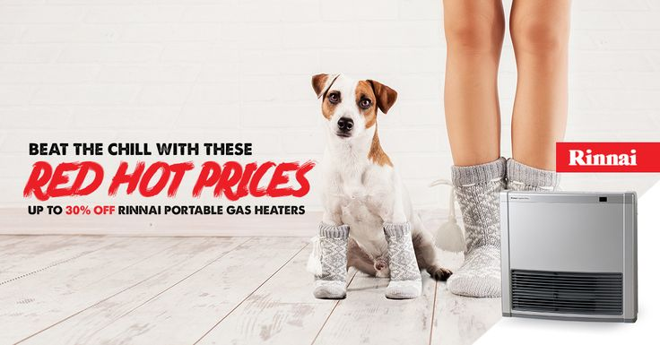 Get Winter ready with Rinnai Australia portable gas heaters http://www.abltilecentre.com.au/gas-heaters/