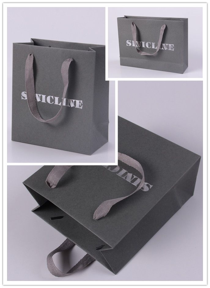 Dark gray ppaer shopping bag designed and produced by @sinicline.   #paperbag #shoppingbag