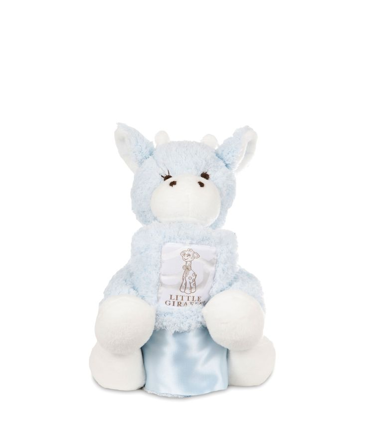Little Giraffe - Mini G + Blanky - Blue CANADA Free Shipping at RockprettyBaby.ca