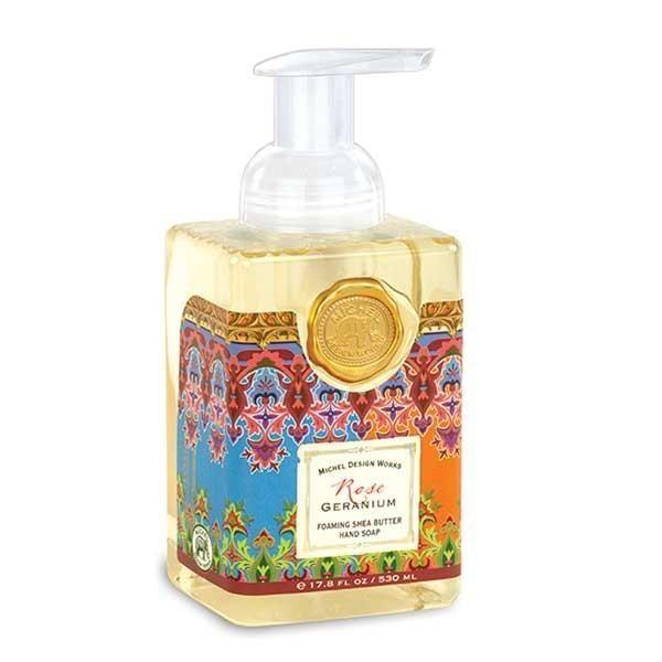 Rose Geranium Foaming Soap Michel Design Works