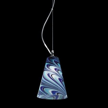 Hanging #lamps with hand-made blown #Murano #glass, available with a wide range of colours; nickel metal frame.  Colors, dimensions and number of lights can be customized to fulfill your wishes. Contact us for a free quotation.  Works with 60W light bulbs.  Each product is shipped with 100% INSURED EXPRESS COURIER.