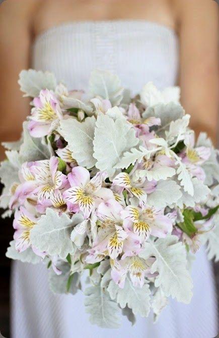 Alstromeria Floret Cadet And Dusty Miller Mint Lilac Wedding Colours Bridal Bouquet