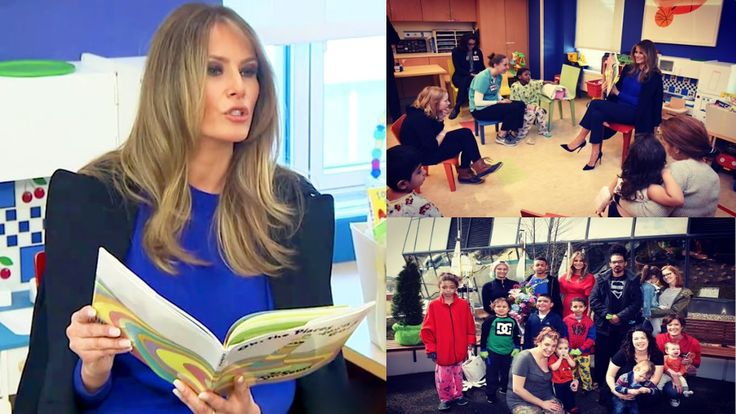 Melania Trump Reads To Children At NYC Hospital