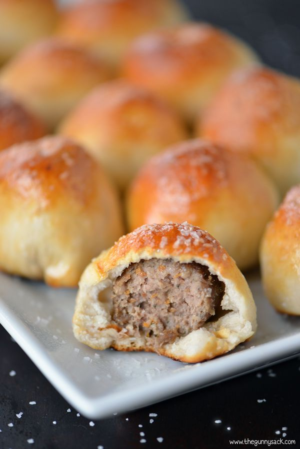 Meatball Stuffed Pretzels Recipe