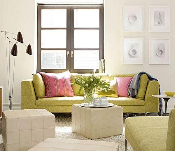 Wohnzimmer gestalten \u2013 coole Dekoideen mit Sofakissen Wohnzimmer