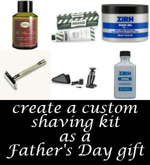 create a custom shaving kit for Fathers Day gift - up to 20% off select items with our coupon code