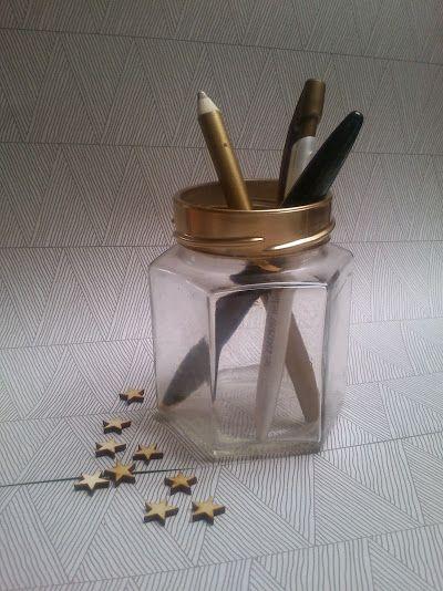 Elegancki pojemnik na długopisy zainspirowany utalentowaną www.patchworkandco.com