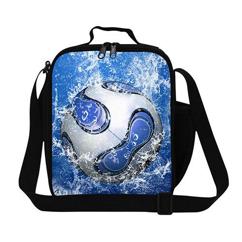 Trendy Ball lunch bag for boys,childrens insulated square lunch container with straps mens small messenger luncher lunch cooler