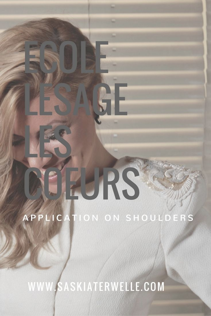 The embroidery design of Ecole Lesage 'Les Coeurs' has been integrated in my fashion design. www.saskiaterwelle.com