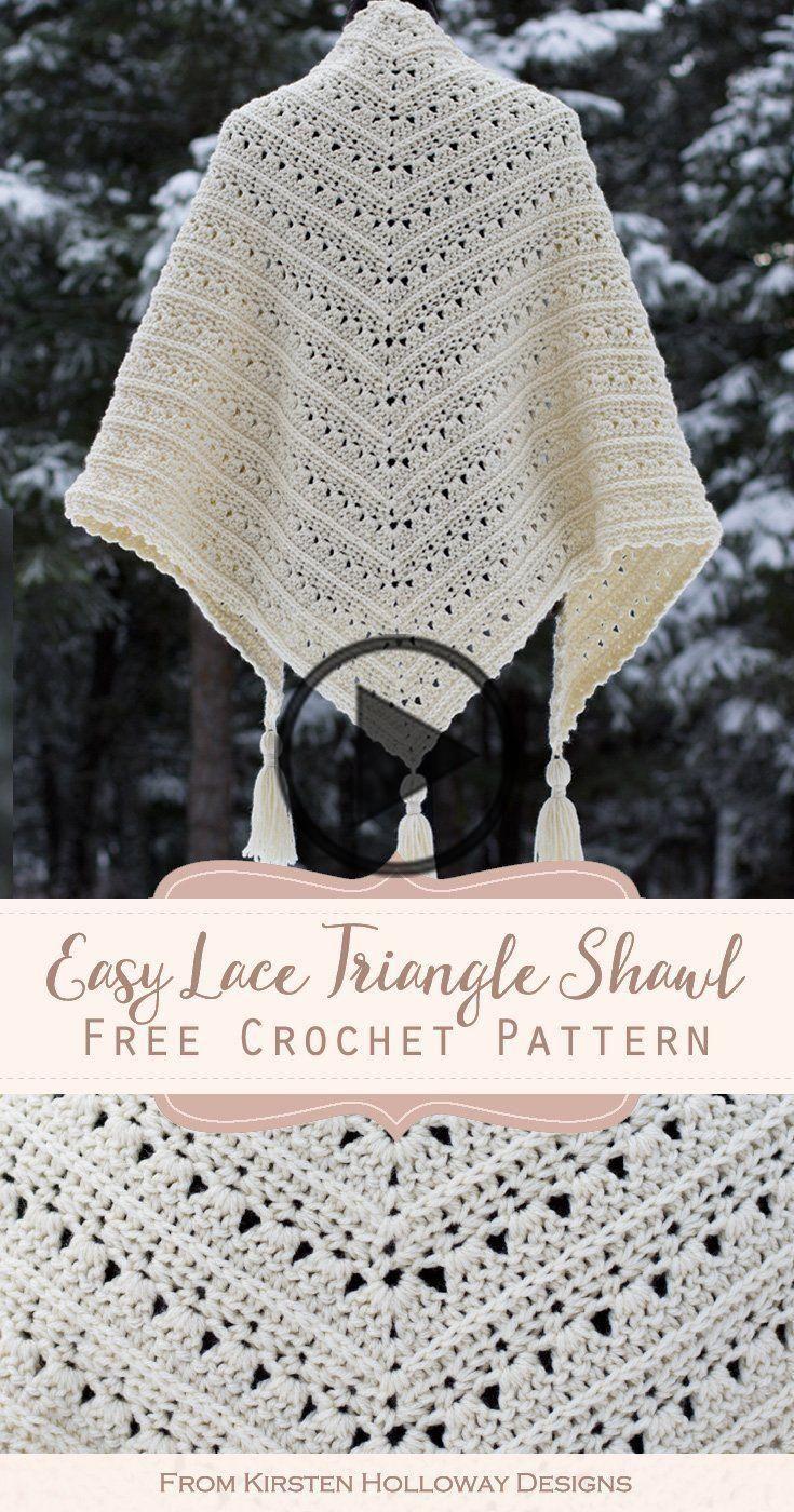 Primrose En Proper Gemakkelijk Triangle Sjaal Haakt Patroon Patronen Breien En Haken Haakpatroon
