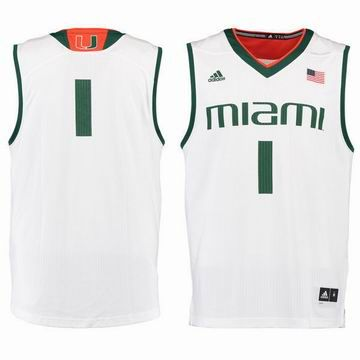 #1 Miami Hurricanes adidas Replica Basketball Jersey - White
