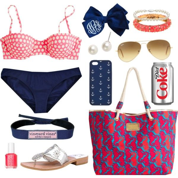 """Beach Day!"" by classically-preppy on Polyvore j crew suit"
