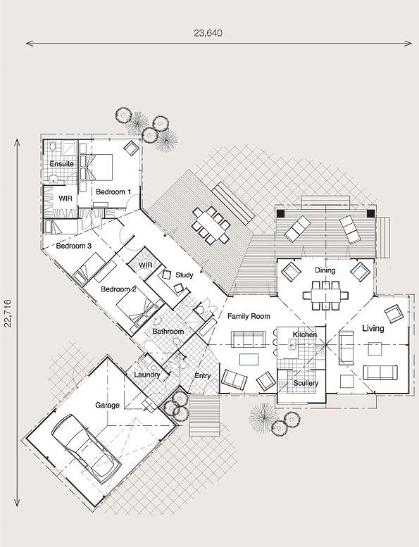 77 best L Shape house Plans images on Pinterest | Floor plans, House ...
