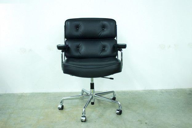 #Vitra Klassiker #Bürodrehsessel Lobby #Chair #Leder #schwarz