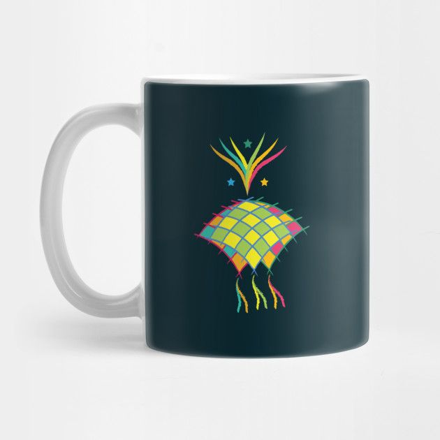 Abstract Ketupat Coffee Mug Insulated Stainless Steel 15oz Capacity Top Shelf Dishwasher Safe Wraparound Top To Bottom Printing Teepublic