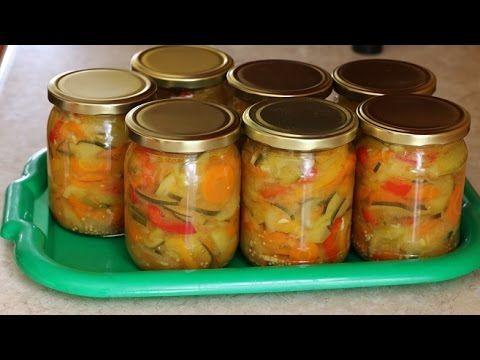 Sałatka z cukinii, marchewki...na zimę pyszna... Jak zrobić? - YouTube