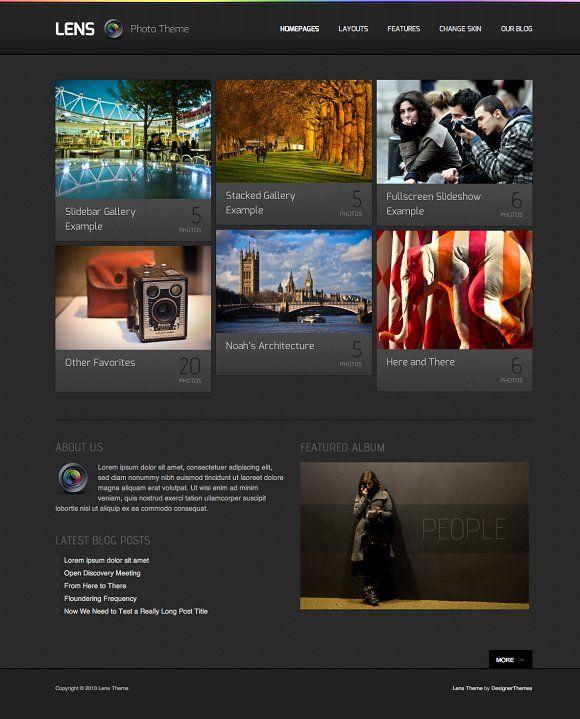 Lens, a WordPress Photography Theme by DesignerThemes.com on @creativemarket