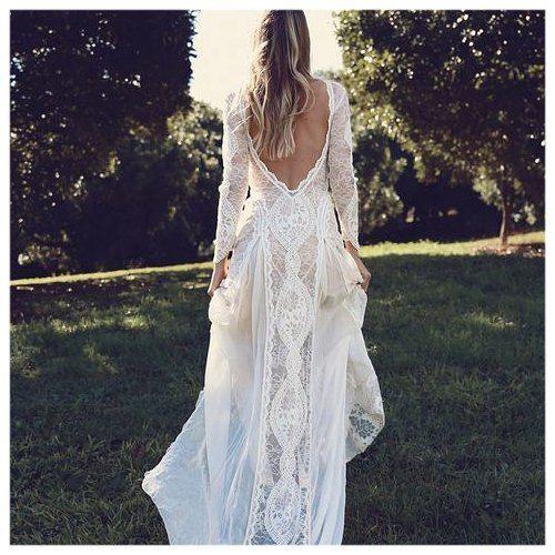 Gorgeous Boho Bride Wedding Dress