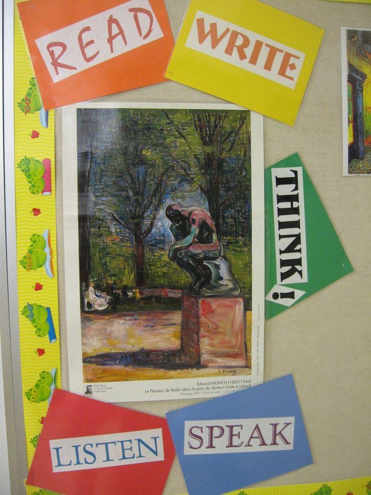 Classroom Decoration English ~ Best english bulletin boards ideas on pinterest ela