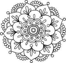 Resultado de imagen para mandalas faciles de dibujar pintadas