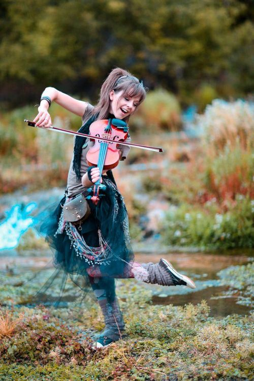 Lindsey Stirling, an awesome violinist and an amazing woman.