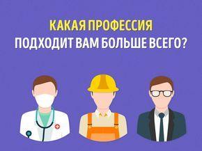 Какая профессия подходит вам больше всего?