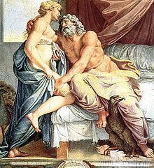 "Juno (Latin pronunciation: [ˈjuːnoː]) is an ancient Roman goddess, the protector and special counselor of the state. She is a daughter of Saturn and sister (but also the wife) of the chief god Jupiter and the mother of Mars and Vulcan. Juno also looked after the women of Rome. Her Greek equivalent is Hera. As the patron goddess of Rome and the Roman Empire she was called Regina (""queen"") and, together with Jupiter and Minerva, was worshipped as a triad on the Capitol (Juno Capitolina) in…"
