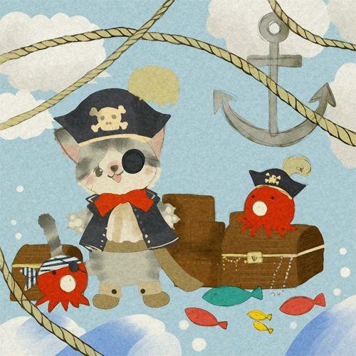 Pirate Cat by ecru