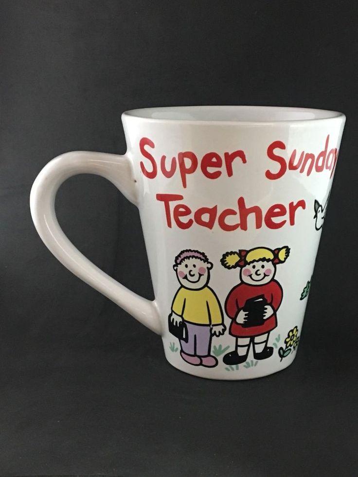 """ Super Sunday School Teacher "" designer coffee mug cup"