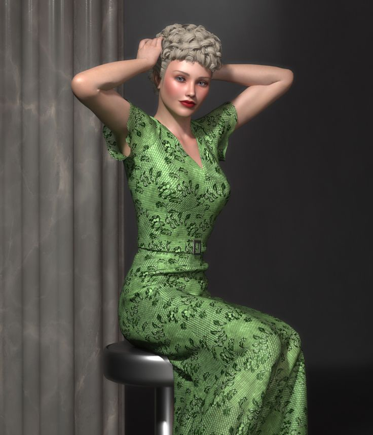 FRQ Dynamics: 1930s Glamour by Frequency // #30s #1930s #hollywood #renderosity #3d #dynamicclothing #dynamiccloth #poserpro #dynamic #frequency3d #frequency