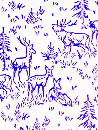 PURPLE DEER WRAPPING PAPER  www.thebirdhousecollection.com.au