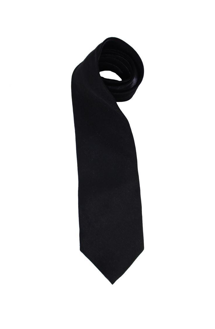 A vintage Italian design silk tie from Miano Firenze. In black color with white hidden threads. made in Italy, 100% silk.