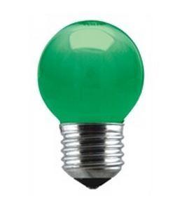 Lampadas LED : Lampada LED Verde E27 G45 1W
