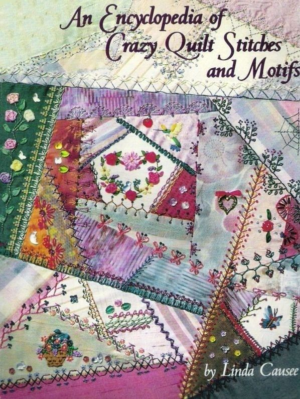 69 pages of crazy quilt stitches, blocks, and ribbon embroidery.  English
