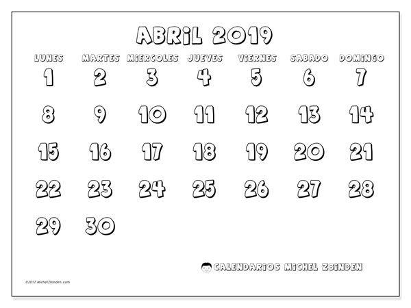 Calendario Abril 2019 56ld Bullet Journal Print Calendar 2019 Calendar