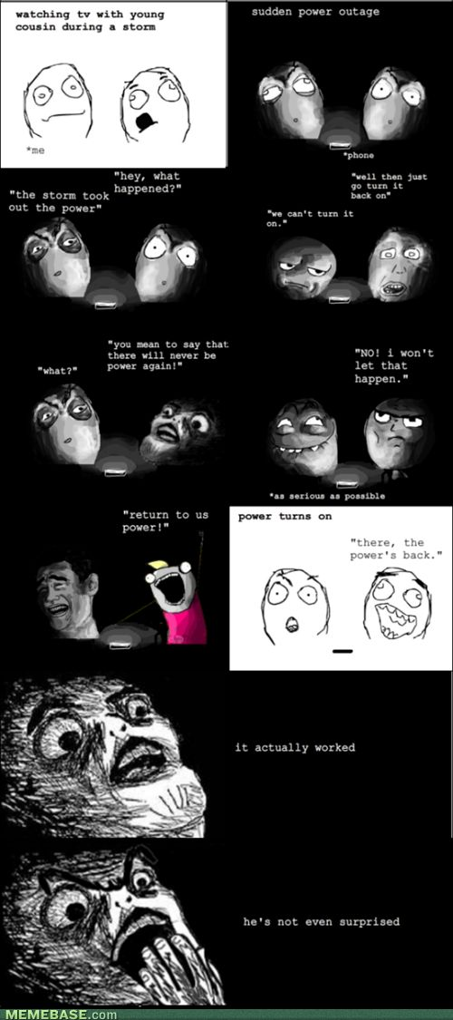 internet memes - Rage Comics: I Must Be a God!