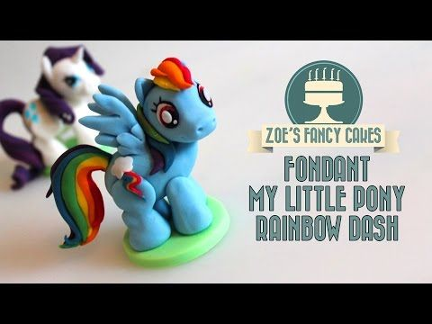 Rainbow Dash model: How to make a my little pony fondant cake topper fimo tutorial - YouTube