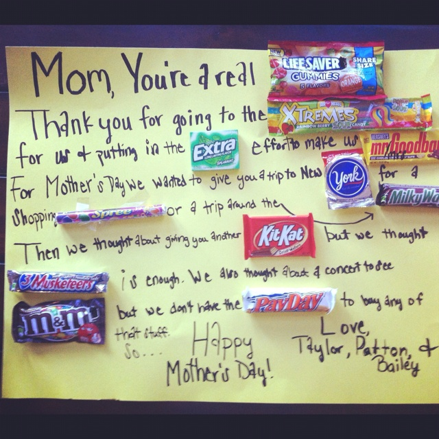 Mother S Day Candy Card Holiday Crafts And Treats