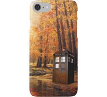 Tardis Forest Art Painting iPhone Case/Skin