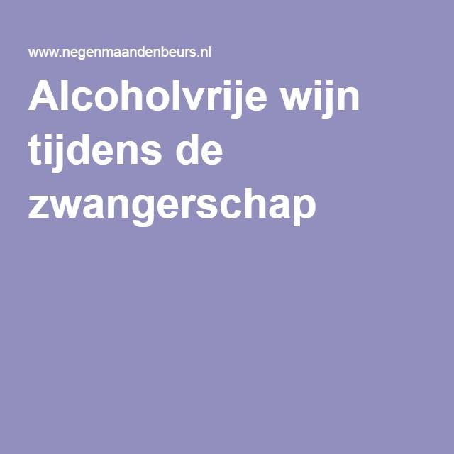 Alcoholvrije wijn tijdens de zwangerschap