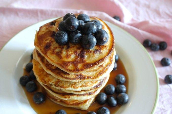 Ricotta pancakes met blauwe bessen | Francesca Kookt!