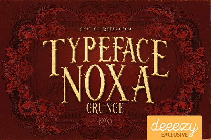 Noxa Grunge Font   Deeezy - Freebies with Extended License