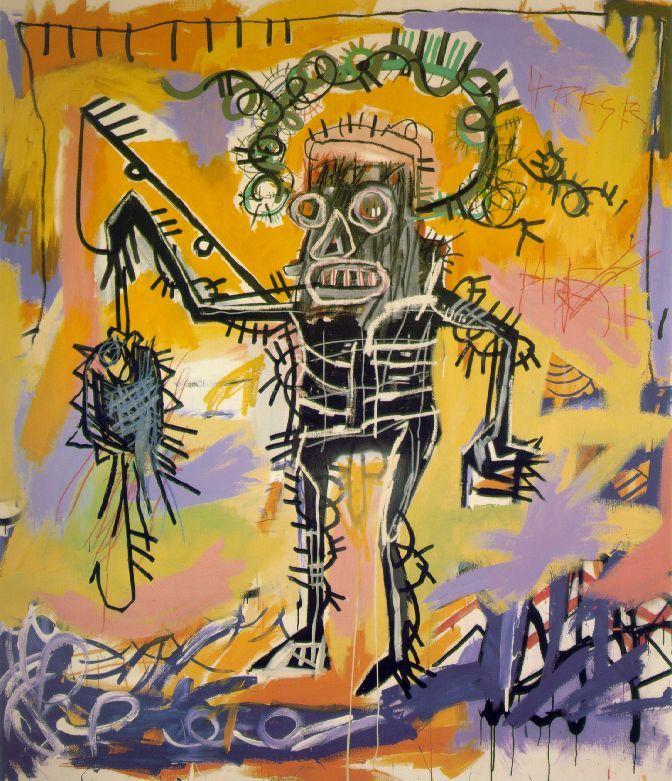 Pedro, en esta pieza puedes ver la fuerza expresiva d Jean-Michel Basquiat que murió a los 27 años, después de habernos impresionado con su arte- WikiArt.org