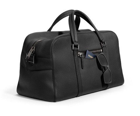 Leather Weekender Bag - Berkeley - Black